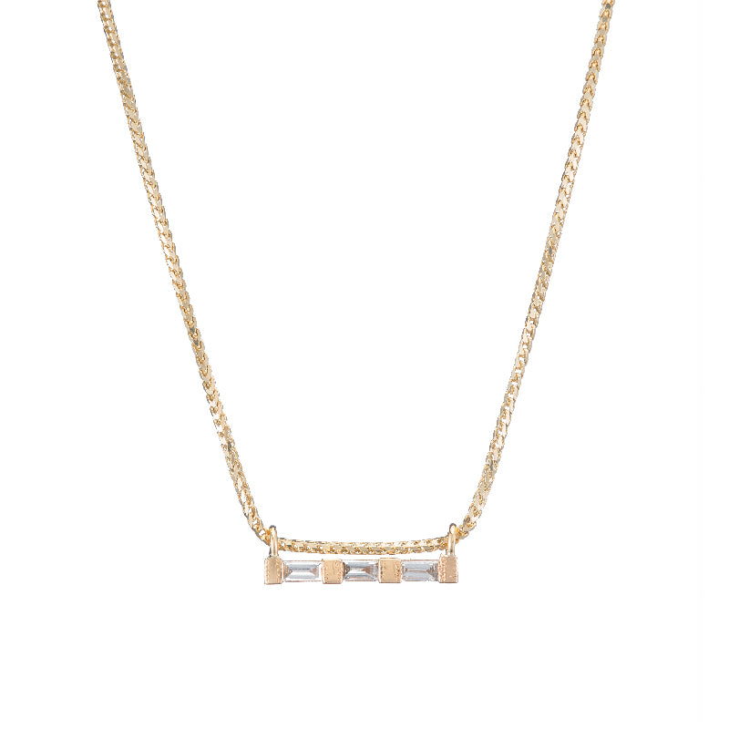 3 Baguette Necklace