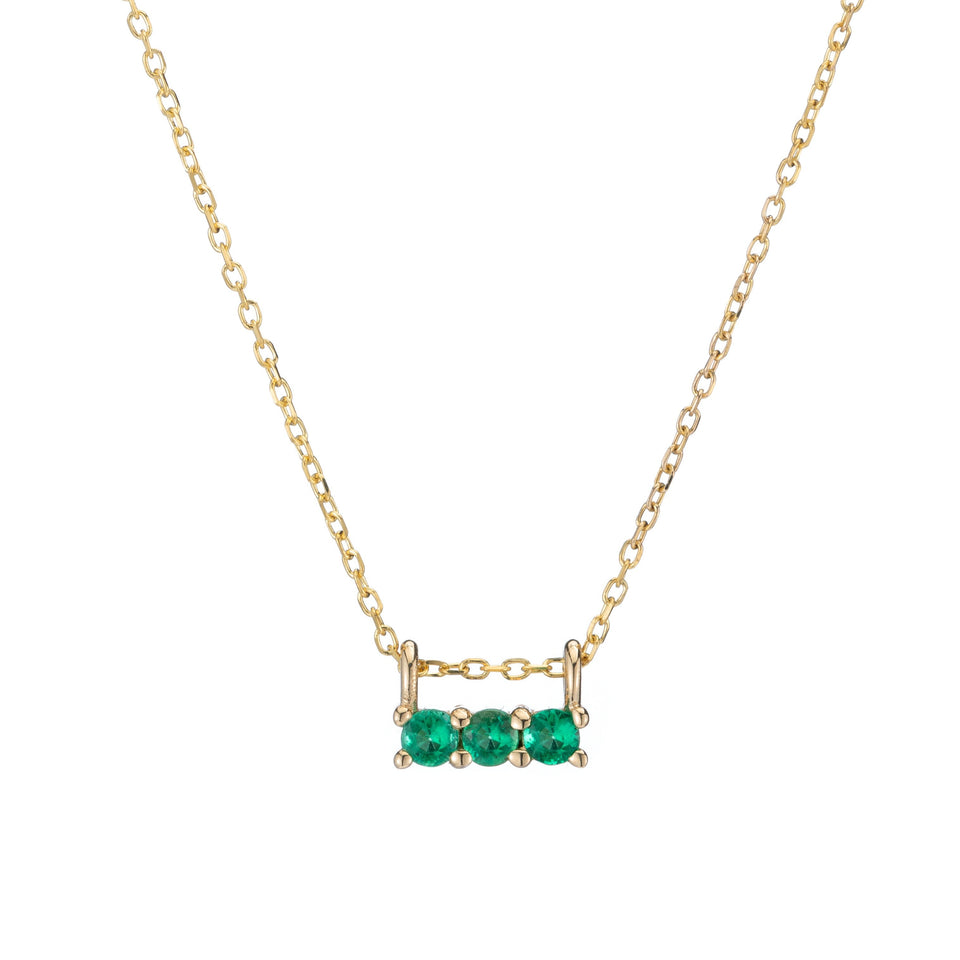 EMERALD 3S NECKLACE