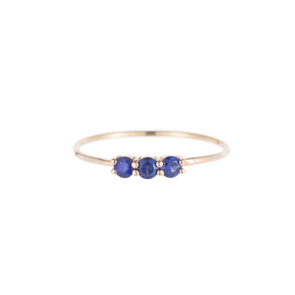 3S Blue Sapphire Ring