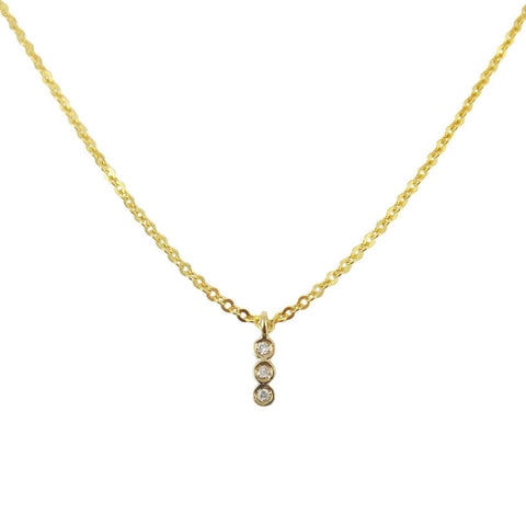 3 BEZEL NECKLACE