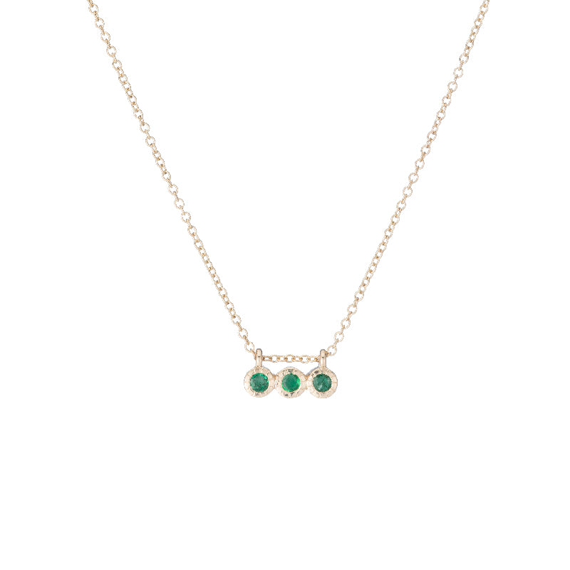 3 Emerald Necklace