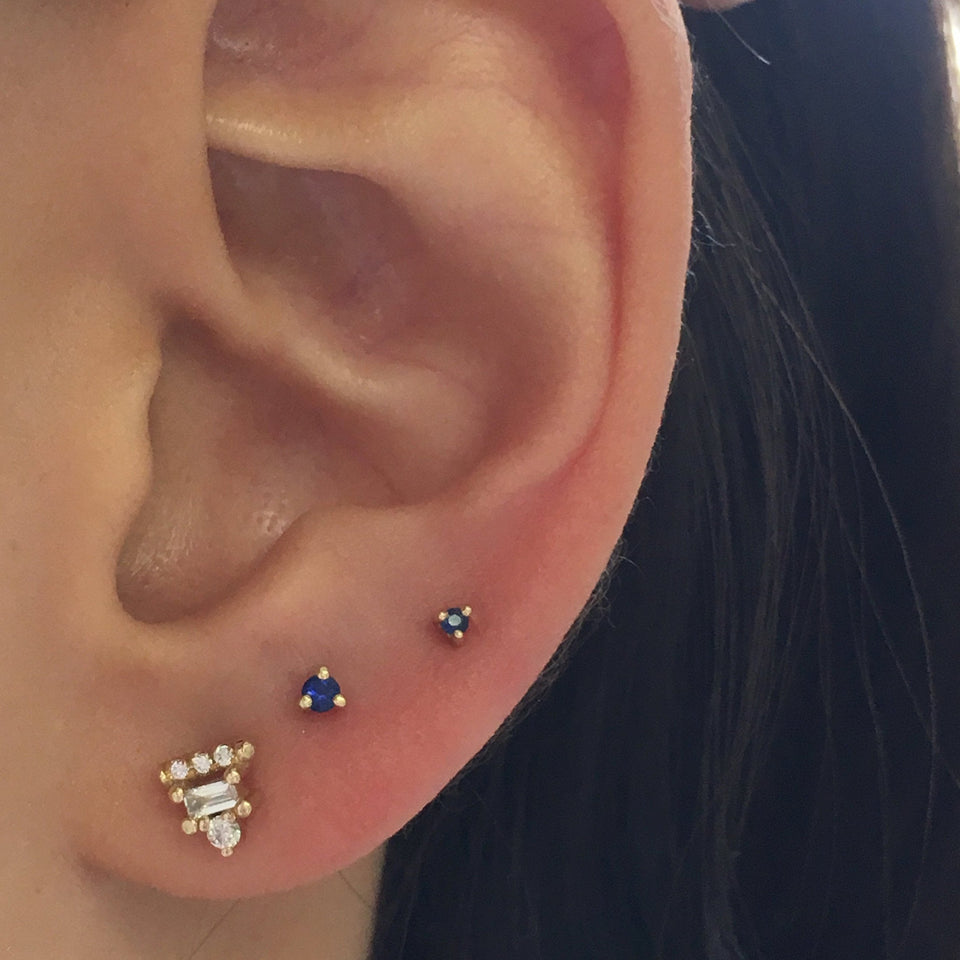 1.5 mm Sapphire Dot Stud (Single)