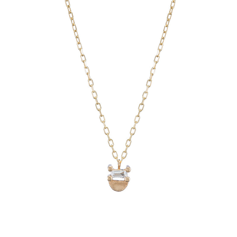 Baguette Half Moon Necklace