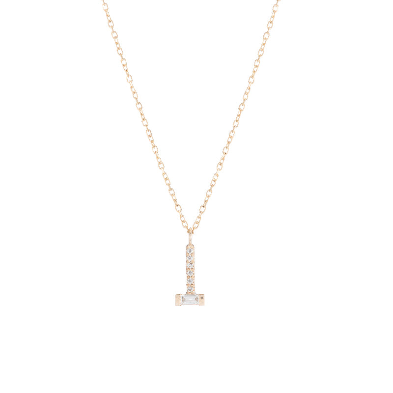 Baguette Diamond Drop Necklace