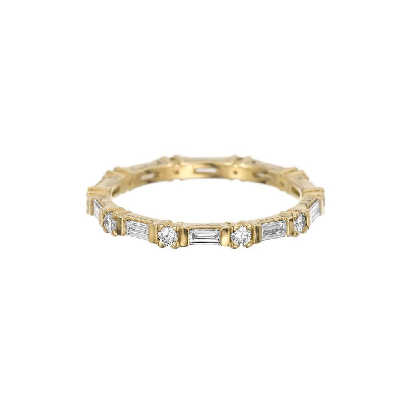 Baguette Round Diamond Eternity Band