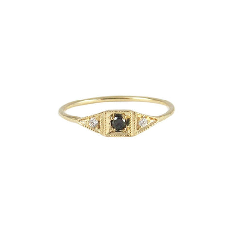 Black Diamond Mini Deco Point Ring