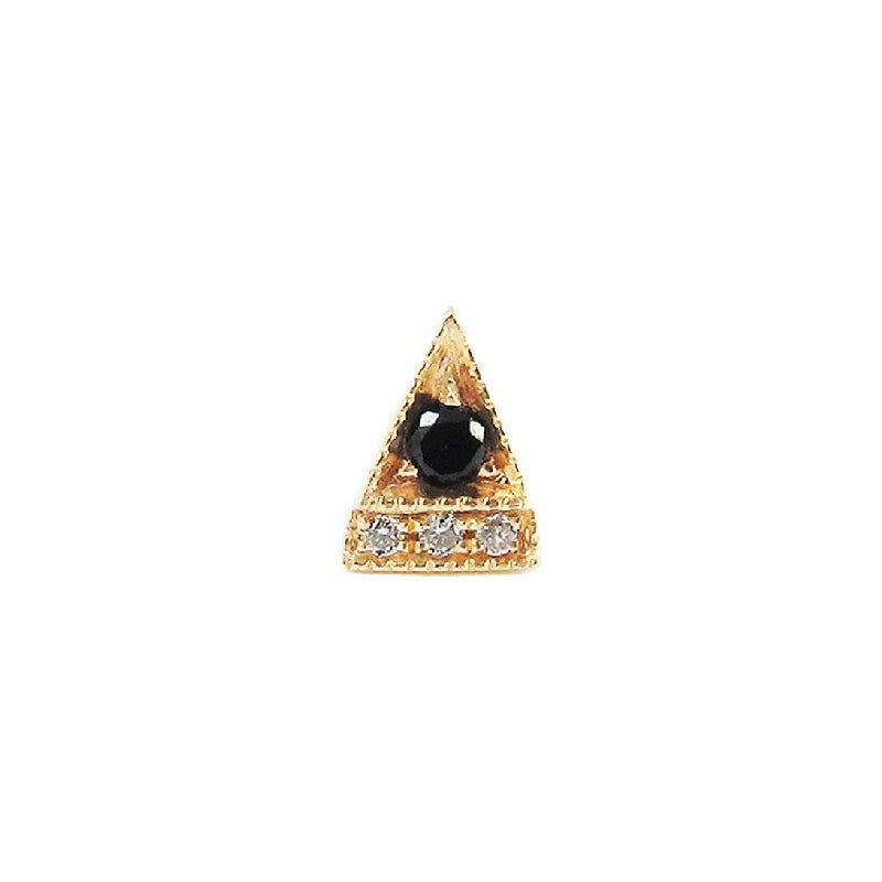 Black Diamond Deco Point Triangle Stud (Single)