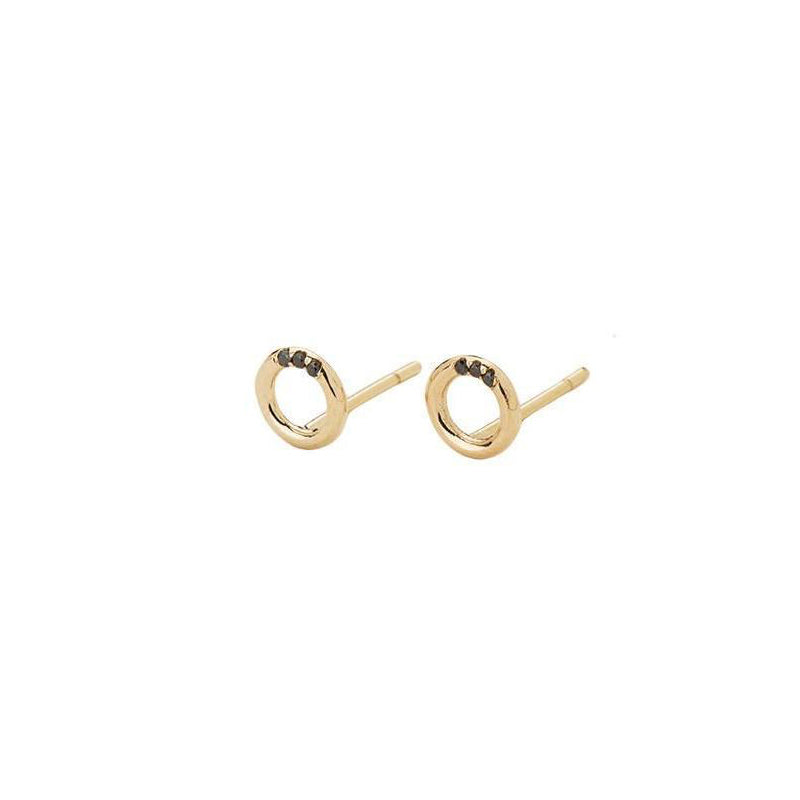 Black Diamond O Studs (Pair)