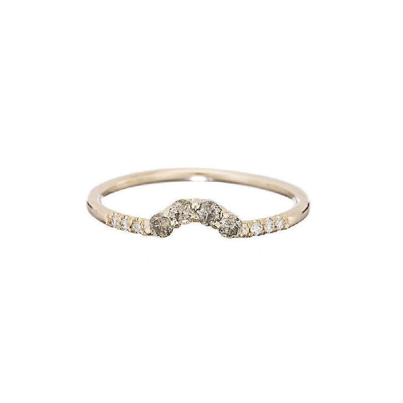 Champagne Diamond Arch Ring