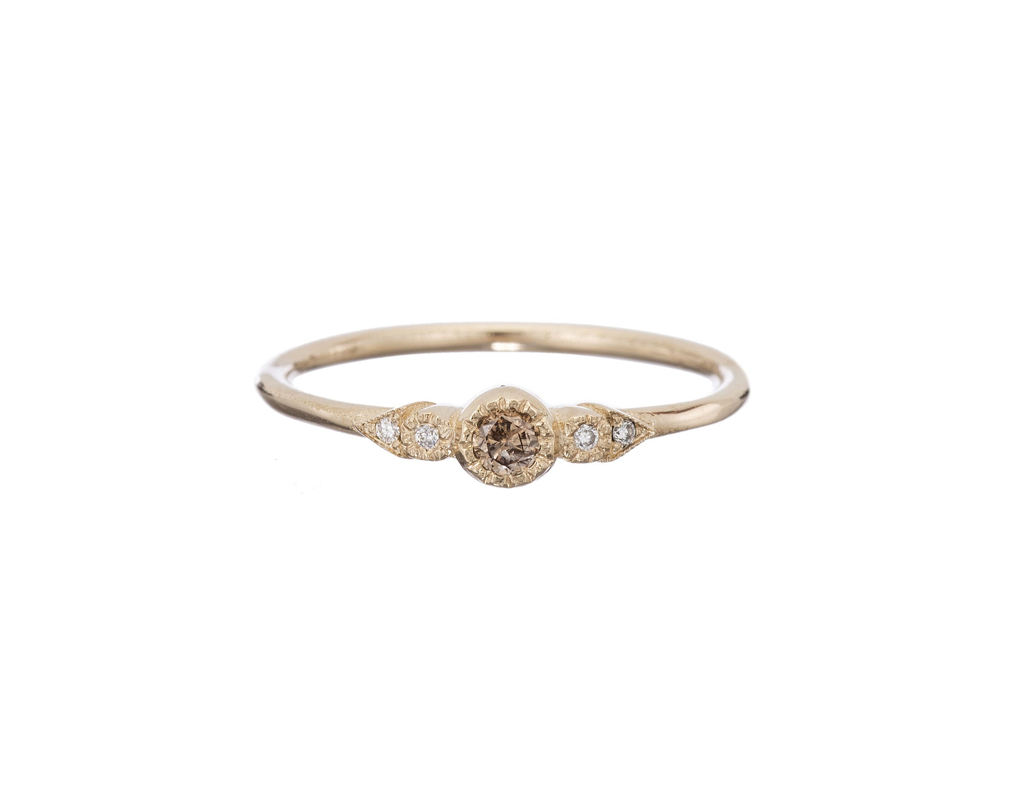 CHAMPAGNE DIAMOND JOURNEY RING