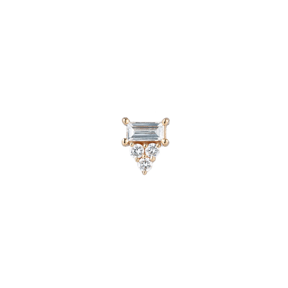 DIAMOND BAGUETTE CLUSTER STUD (SINGLE)