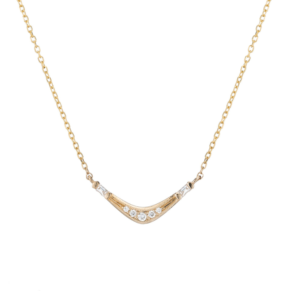 BAGUETTE WAVE NECKLACE