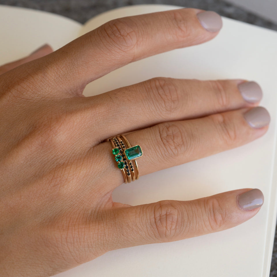 3S Emerald Ring