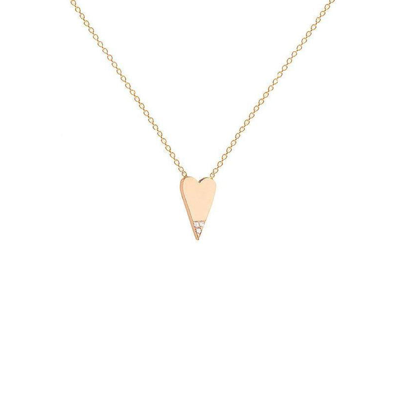 Diamond Dipped Heart Necklace