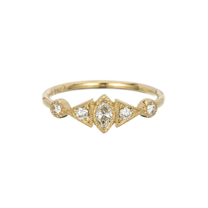 Diamond Marquise Duo Deco Ring