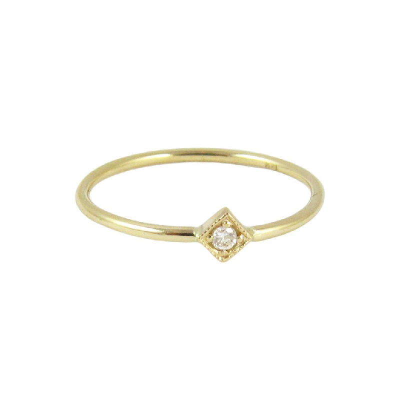Diamond Mini Square Ring