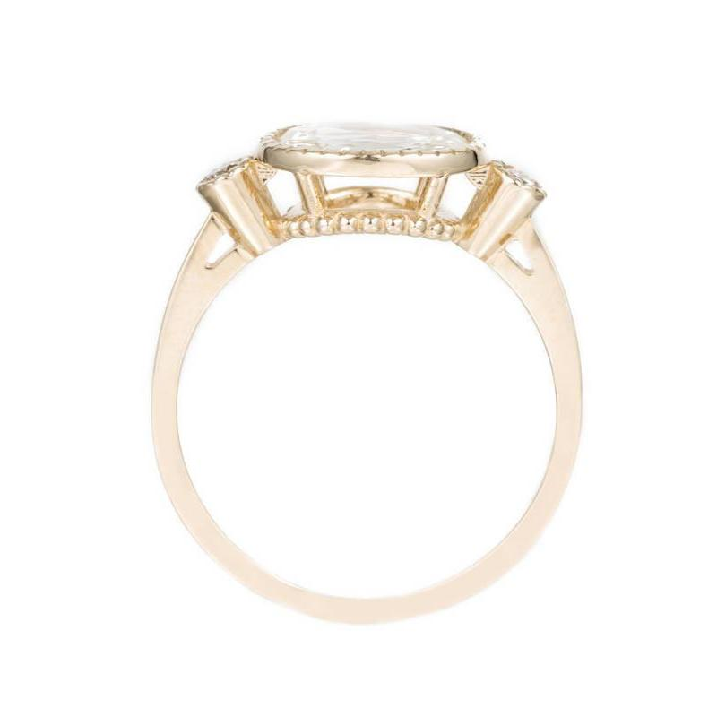 DIAMOND OVAL SLICE ELEVATE RING