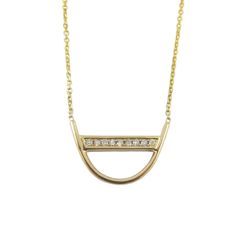 DIAMOND U NECKLACE