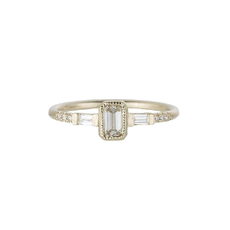 Diamond YJ Baguette Ring