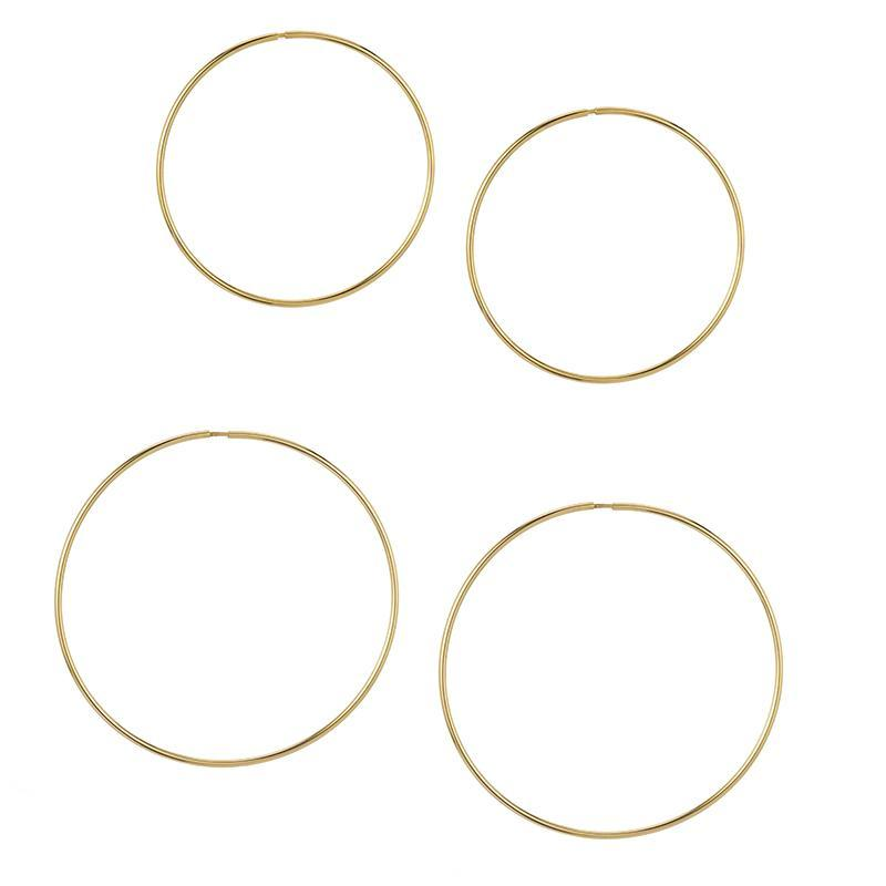14k HOLLOW HOOPS - LARGE