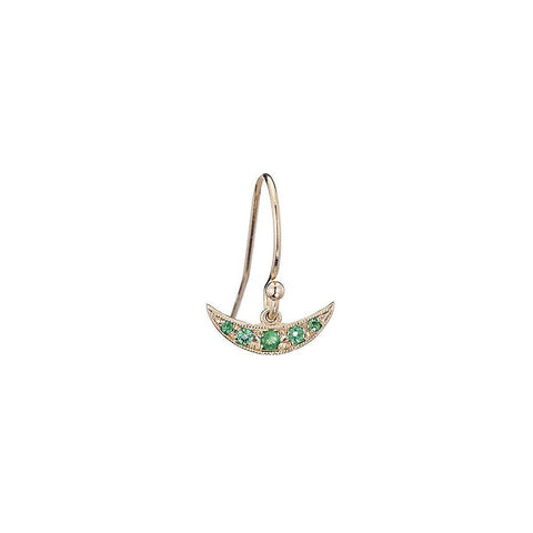 EMERALD BALANCE EARRING (SINGLE)