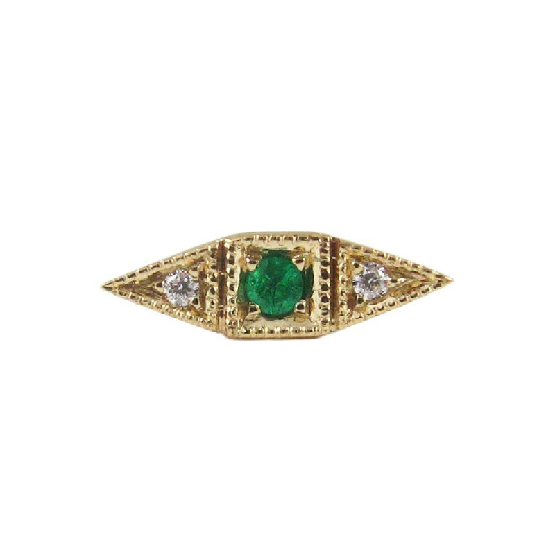 Emerald Deco Point Long Stud (Single)