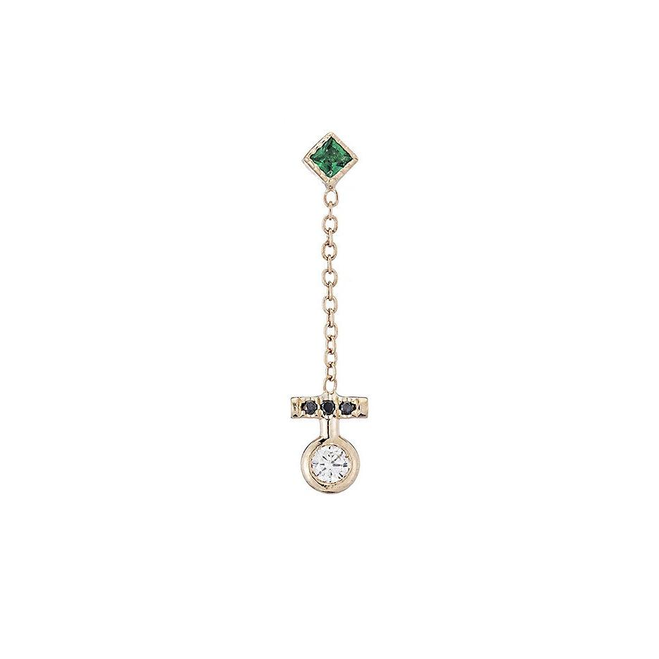EMERALD EVOLUTION EARRING (SINGLE)
