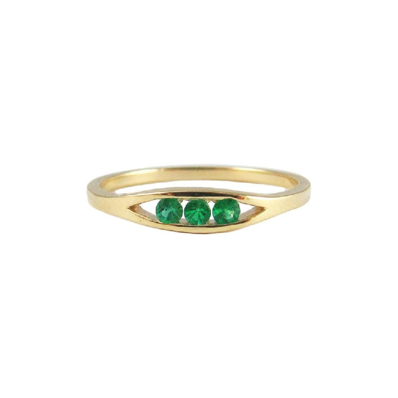 Emerald Float Ring