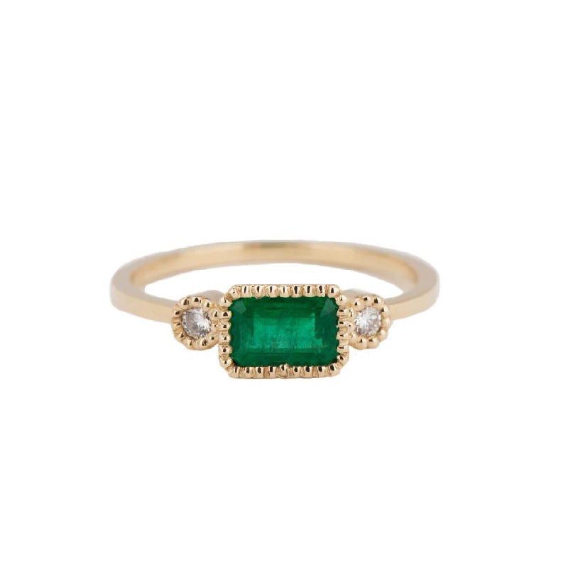 Emerald Lexie Ring