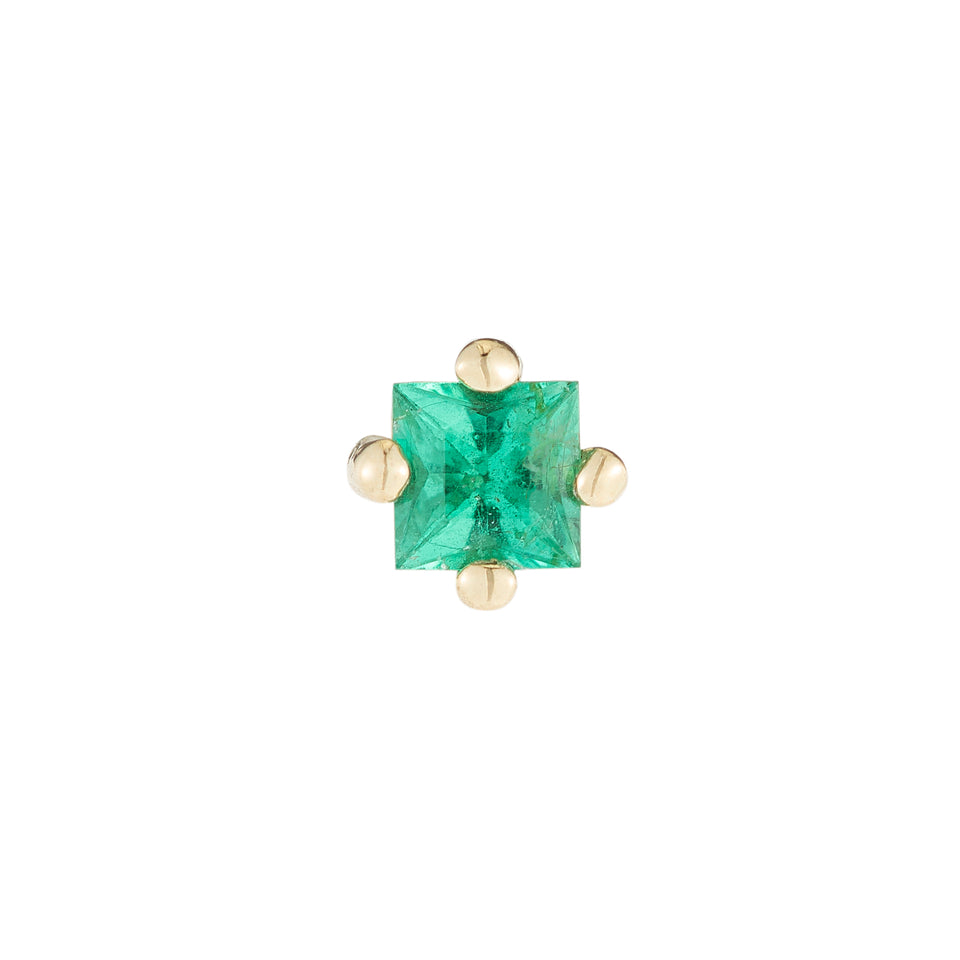 Emerald Princess Cut Stud (Single)