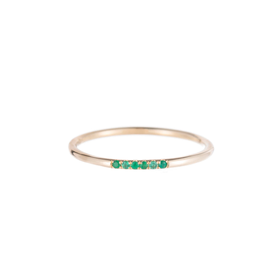 Emerald Semi Pave Ring