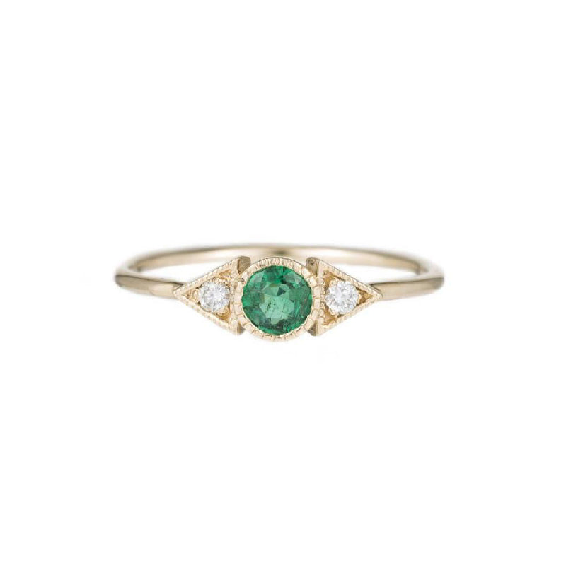 Emerald Spear Ring