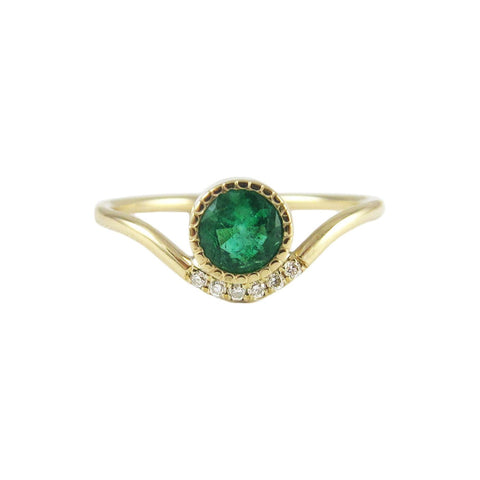 Emerald Wave Ring