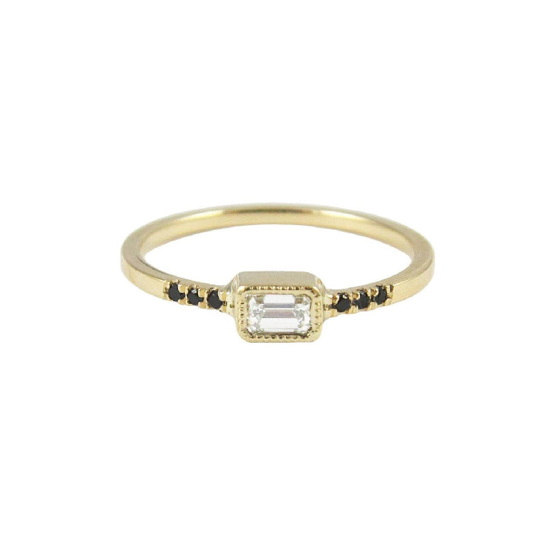 Equilibrium Emerald Cut Diamond Ring