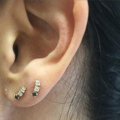 BLACK DIAMOND ACCENT STUD (SINGLE)