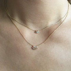 MINI DIAMOND CROWN NECKLACE