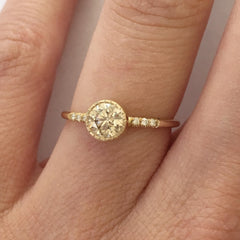 CHAMPAGNE DIAMOND HOPE RING