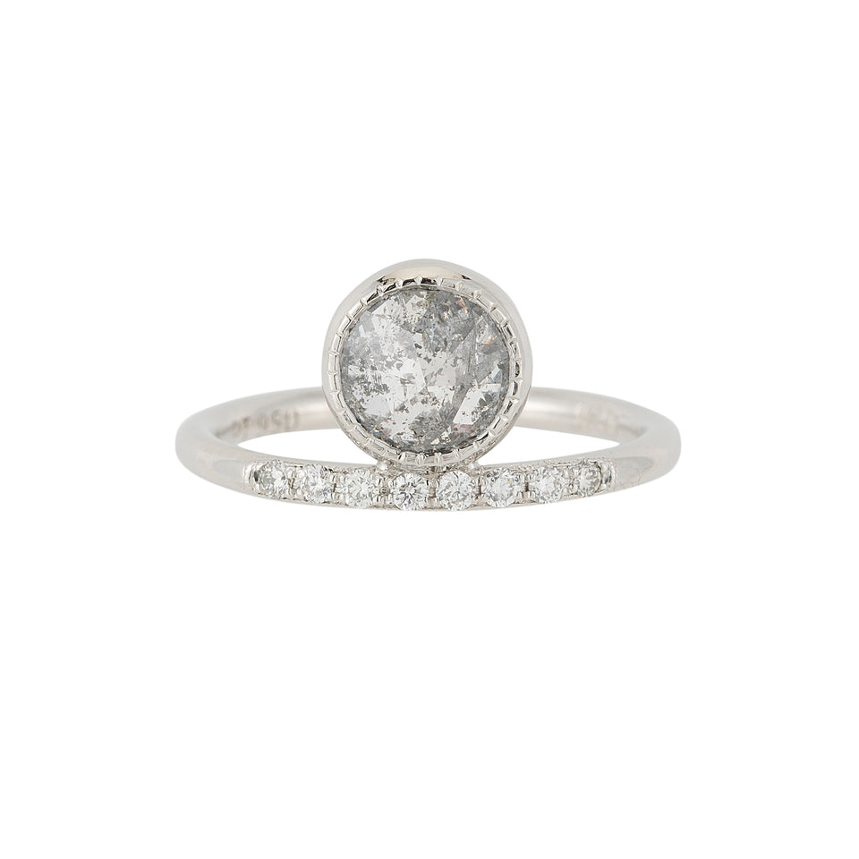 Gray Diamond Luna Ring