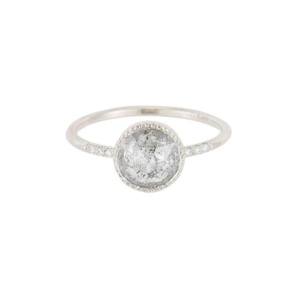 GRAY DIAMOND EQUILIBRIUM RING
