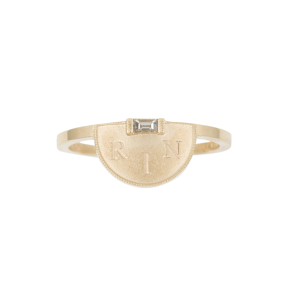 Half Moon Signet Ring