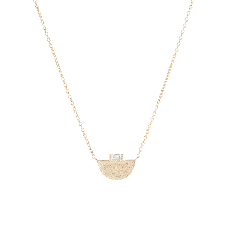 Half Moon Signet Necklace