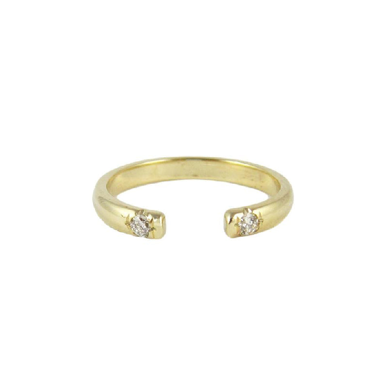 Half Round 2 Diamond Cuff Ring