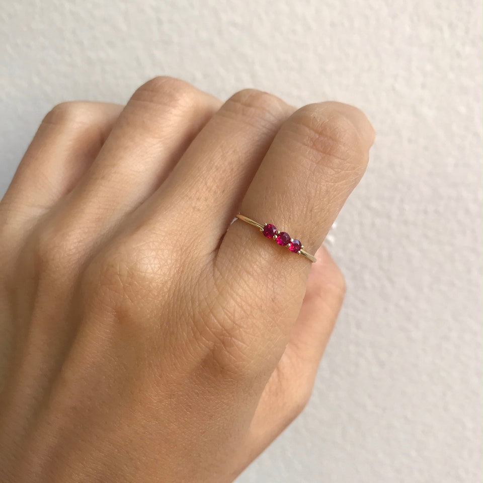 3S Ruby Ring