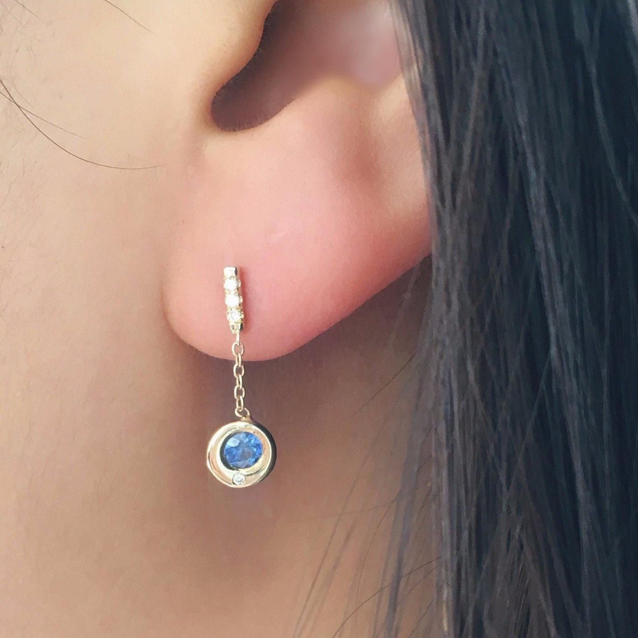 SAPPHIRE HOPE EARRING (SINGLE)