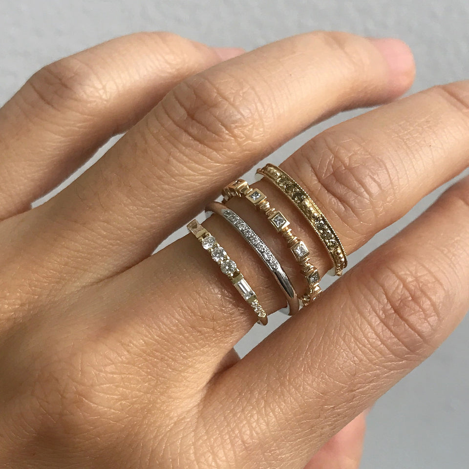 Champagne Diamond Beaded Band