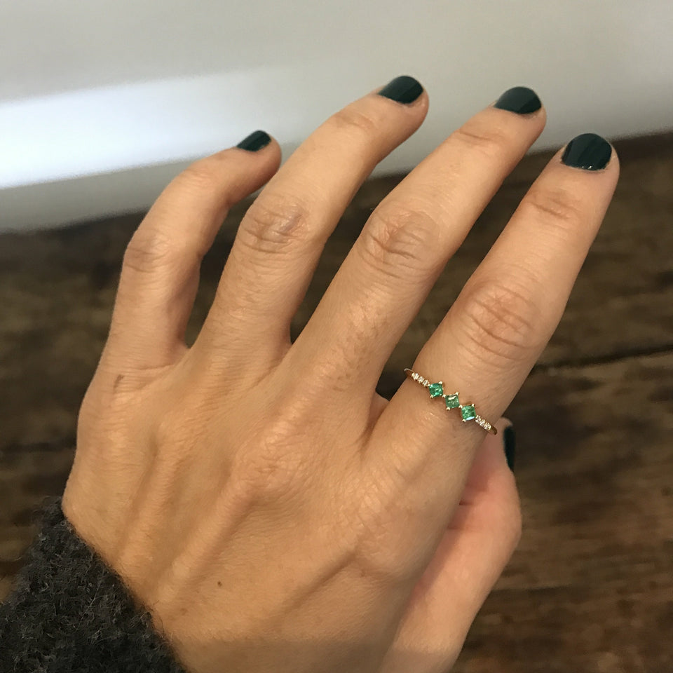 Emerald Harmony Ring