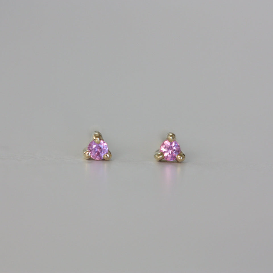 1.5 mm Pink Sapphire Dot Stud (Single)