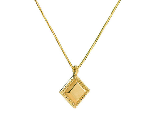 Square pendant with milgran detail