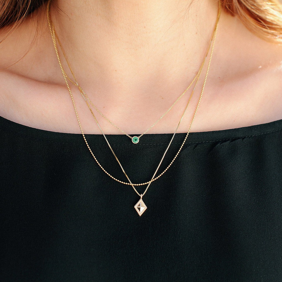 Magic Eye Emerald Necklace