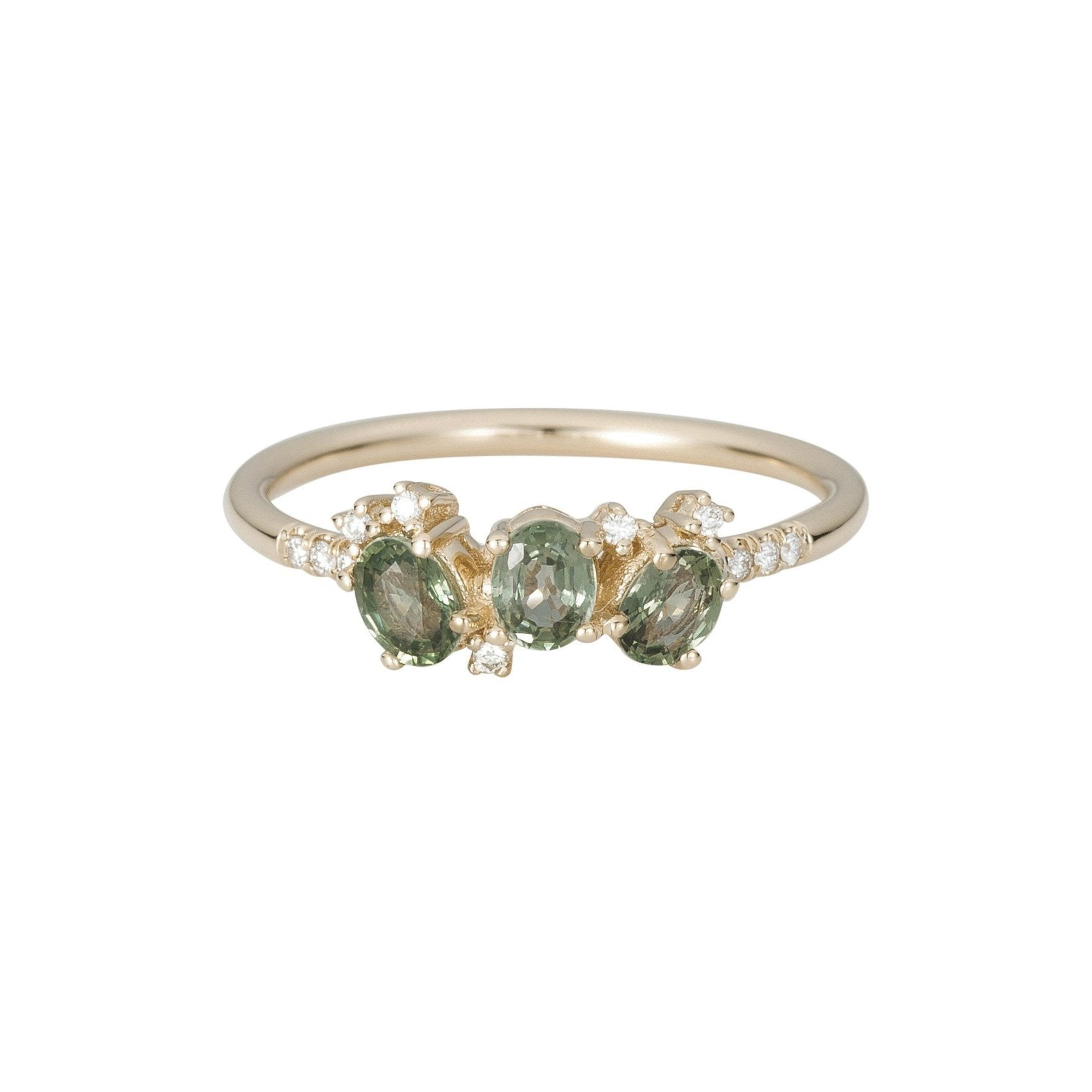 size i and diamond cocktail green s emerald rings star women ring refurbished gemstone gold h yellow pin